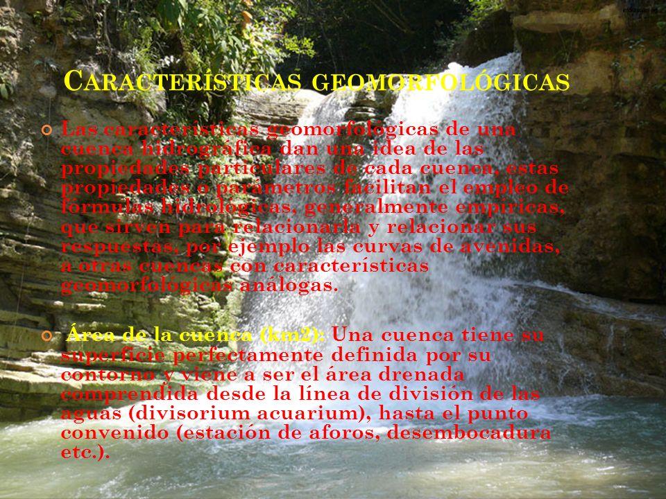 Características geomorfológicas
