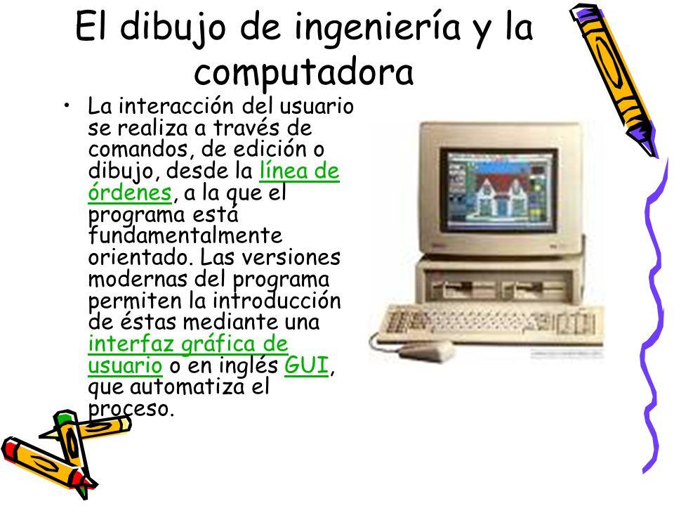 El dibujo de ingeniería y la computadora