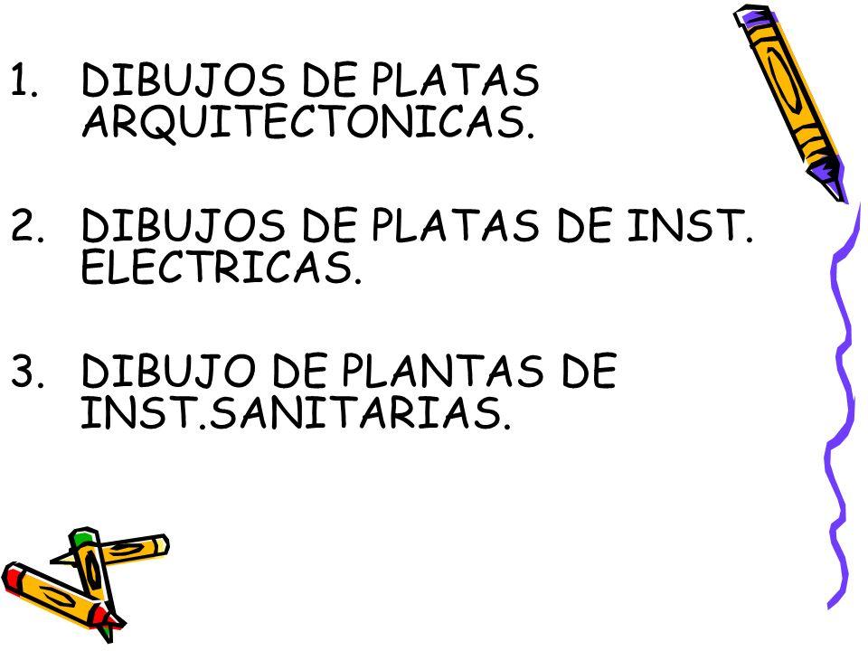 DIBUJOS DE PLATAS ARQUITECTONICAS.
