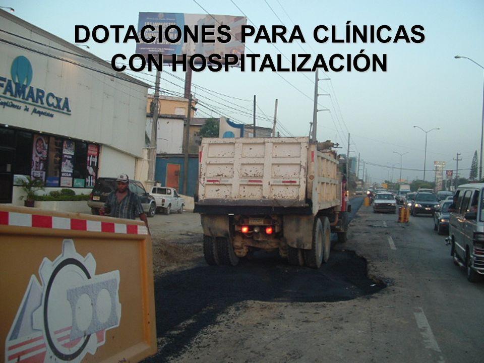 DOTACIONES PARA CLÍNICAS CON HOSPITALIZACIÓN