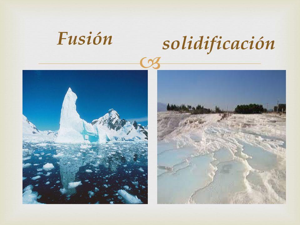 solidificación Fusión
