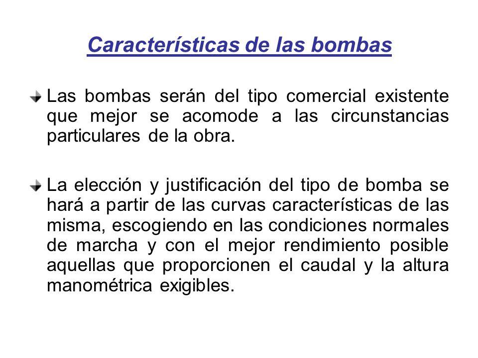 Características de las bombas