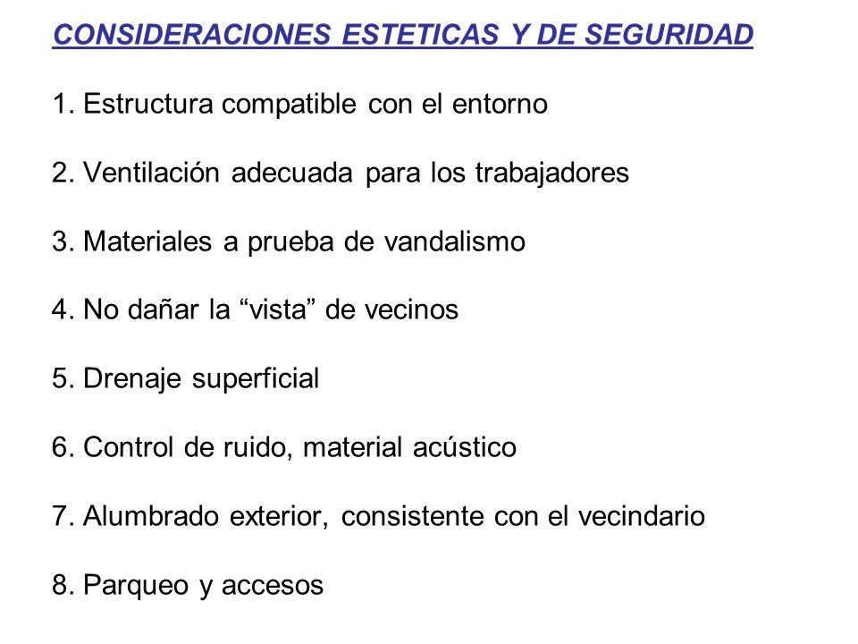 CONSIDERACIONES ESTETICAS Y DE SEGURIDAD 1