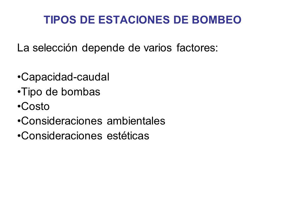TIPOS DE ESTACIONES DE BOMBEO