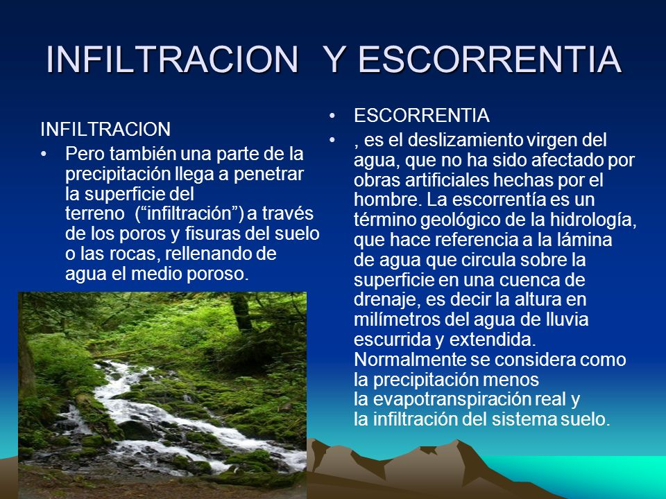 INFILTRACION Y ESCORRENTIA