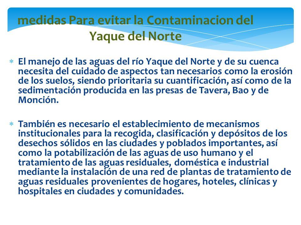 medidas Para evitar la Contaminacion del Yaque del Norte