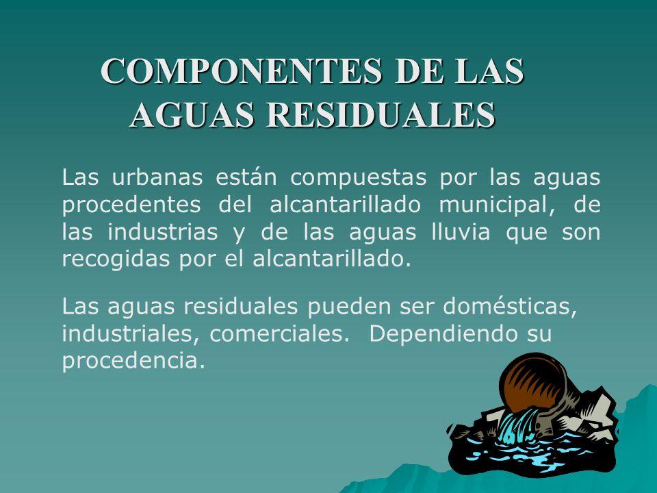 COMPONENTES DE LAS AGUAS RESIDUALES