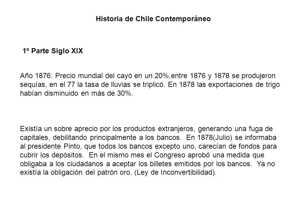 Historia de Chile Contemporáneo