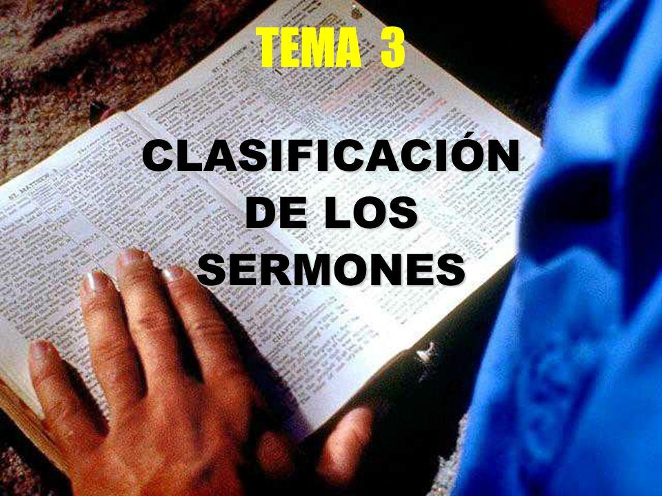 TEMA 3 CLASIFICACIÓN DE LOS SERMONES