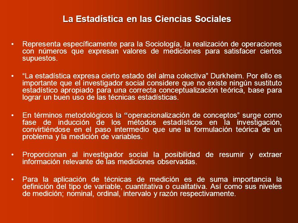 La Estadística en las Ciencias Sociales