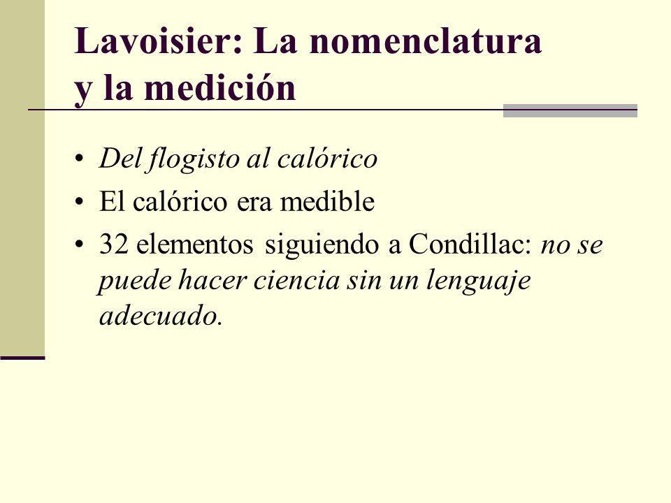 Lavoisier: La nomenclatura y la medición