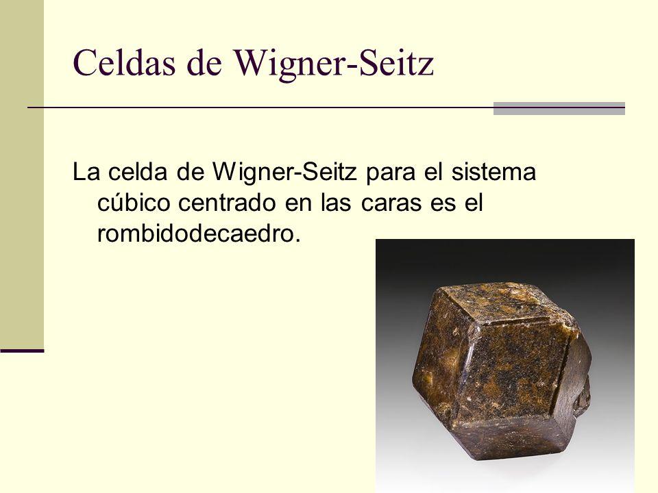 Celdas de Wigner-Seitz