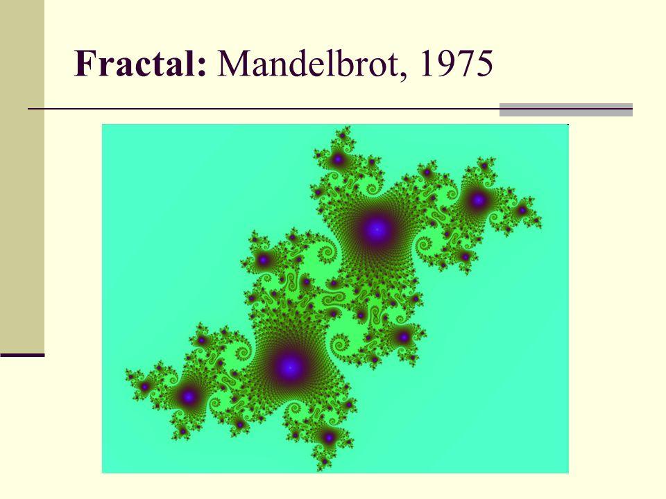 Fractal: Mandelbrot, 1975