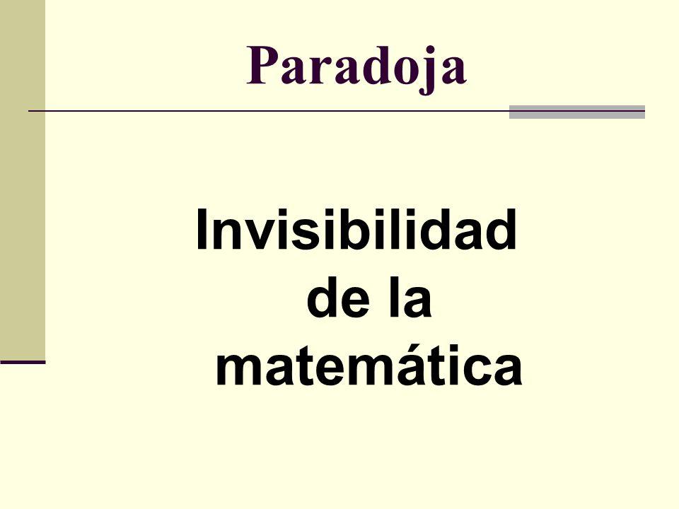 Invisibilidad de la matemática