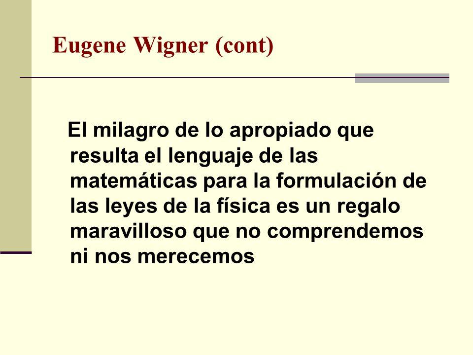 Eugene Wigner (cont)