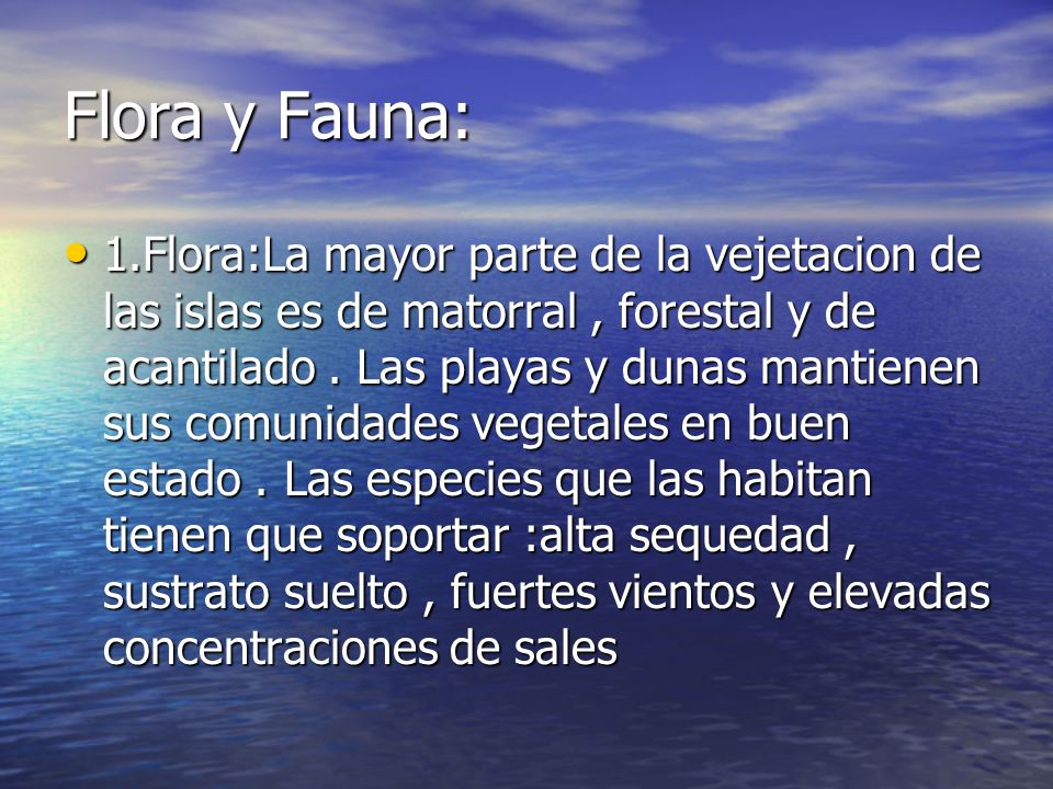 Flora y Fauna: