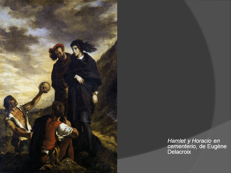 Hamlet y Horacio en cementerio, de Eugène Delacroix