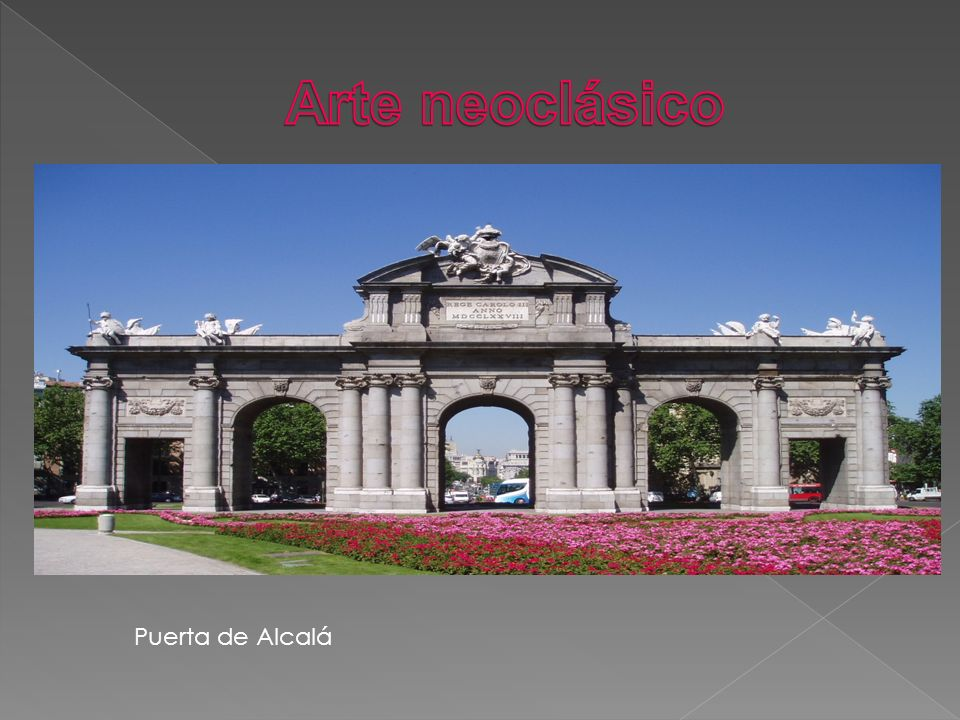 Arte neoclásico Puerta de Alcalá