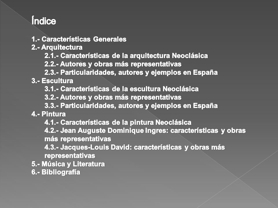 Índice 1. - Características Generales 2. - Arquitectura. 2. 1