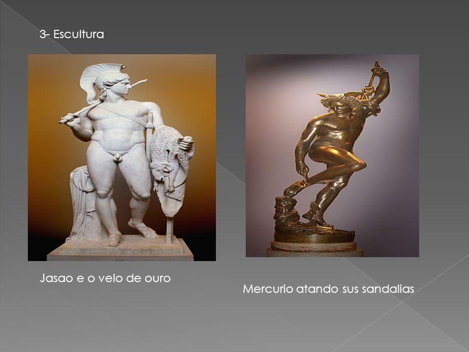 3- Escultura Jasao e o velo de ouro Mercurio atando sus sandalias