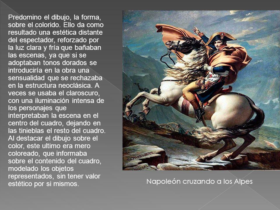 Napoleón cruzando a los Alpes
