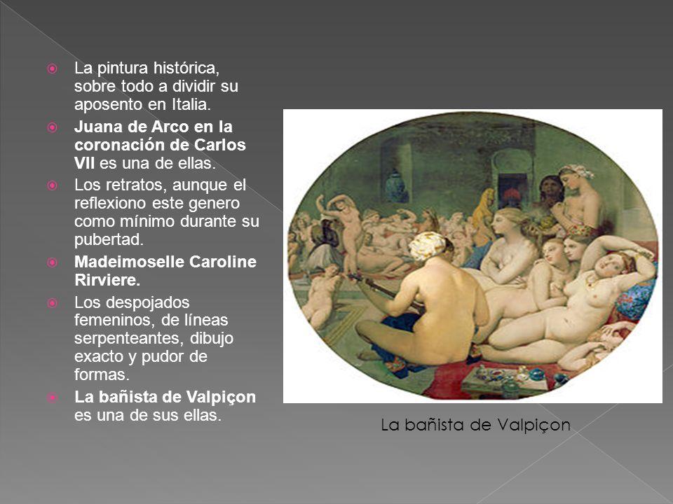 La pintura histórica, sobre todo a dividir su aposento en Italia.