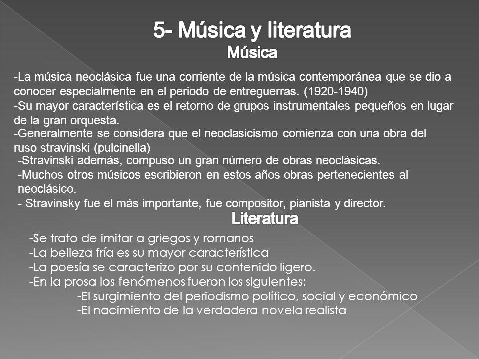 5- Música y literatura Música Literatura
