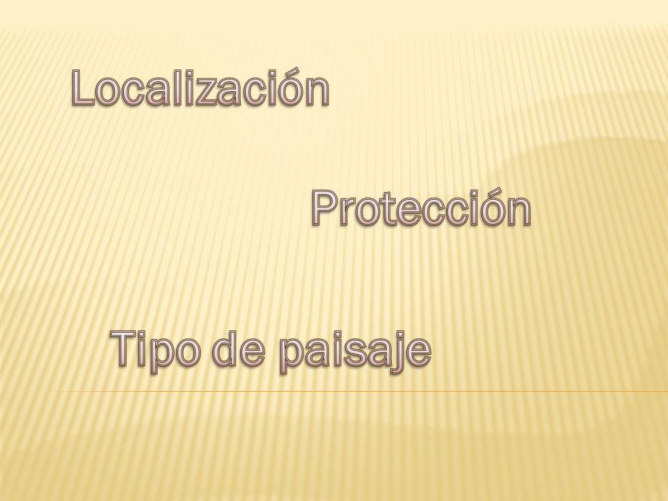 Localización Protección Tipo de paisaje