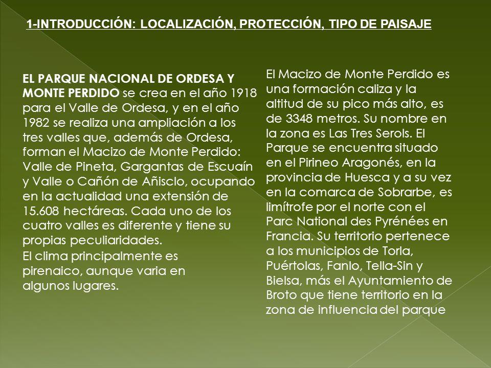 1-INTRODUCCIÓN: LOCALIZACIÓN, PROTECCIÓN, TIPO DE PAISAJE