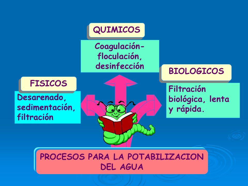 Coagulación-floculación, desinfección