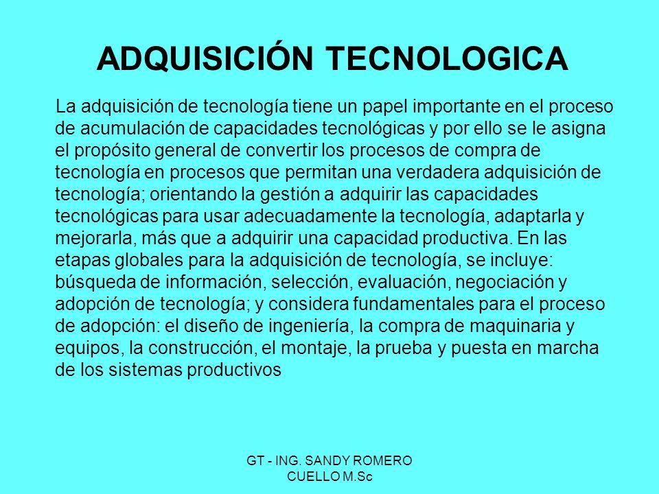 ADQUISICIÓN TECNOLOGICA