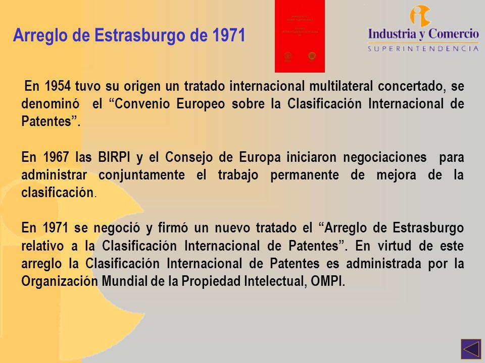 Arreglo de Estrasburgo de 1971