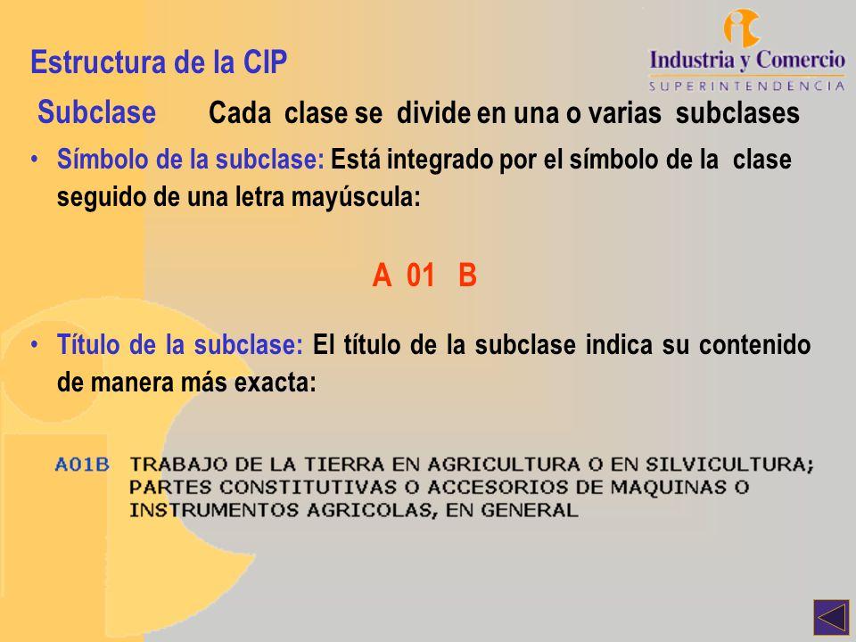 Subclase Cada clase se divide en una o varias subclases