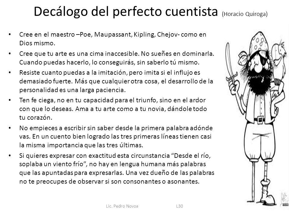 Decálogo del perfecto cuentista (Horacio Quiroga)