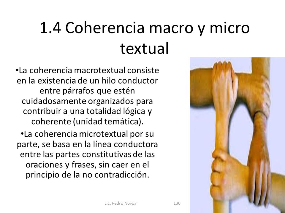 1.4 Coherencia macro y micro textual