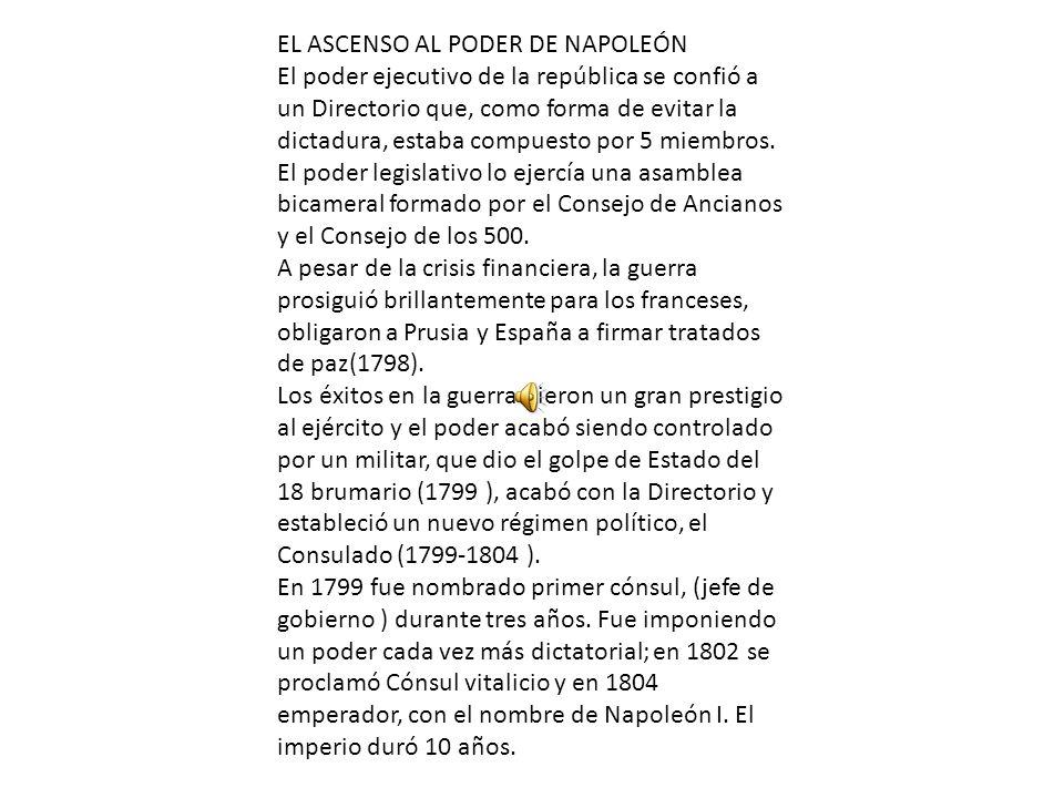 EL ASCENSO AL PODER DE NAPOLEÓN