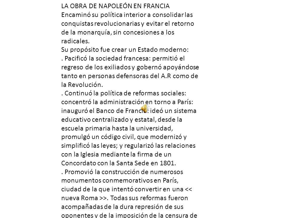 LA OBRA DE NAPOLEÓN EN FRANCIA