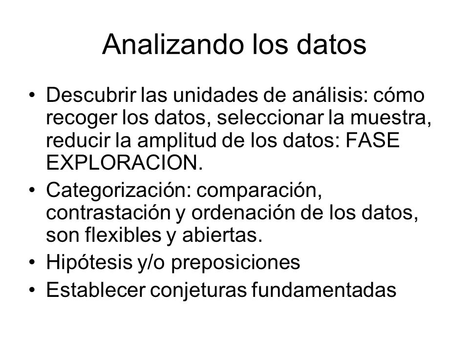 Analizando los datos