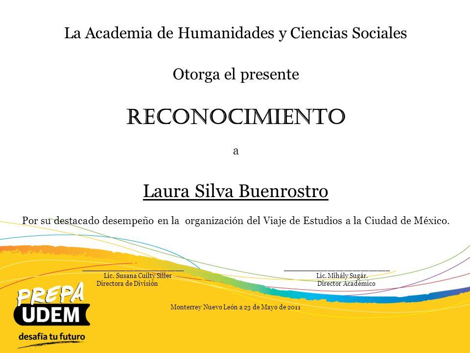 Reconocimiento Laura Silva Buenrostro
