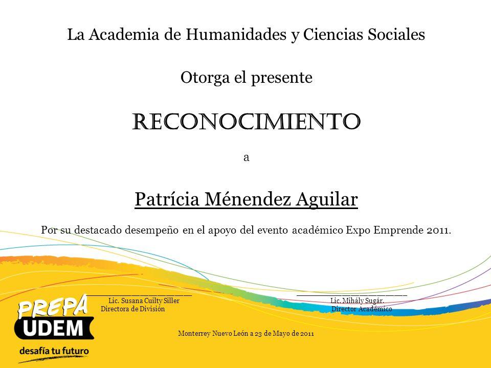 Reconocimiento Patrícia Ménendez Aguilar
