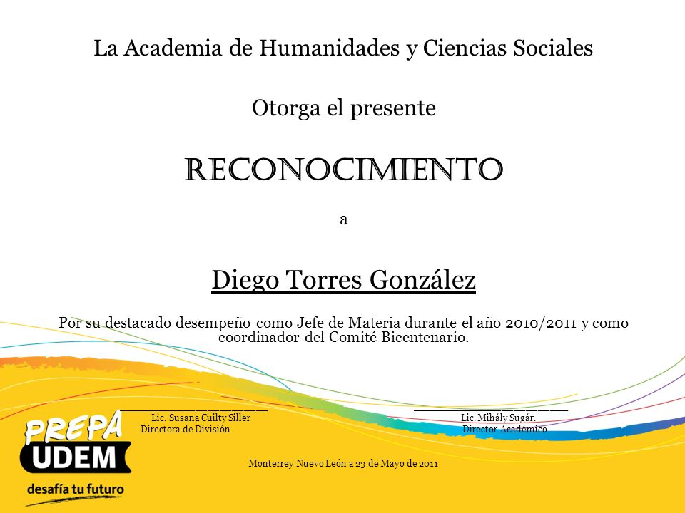 Reconocimiento Diego Torres González