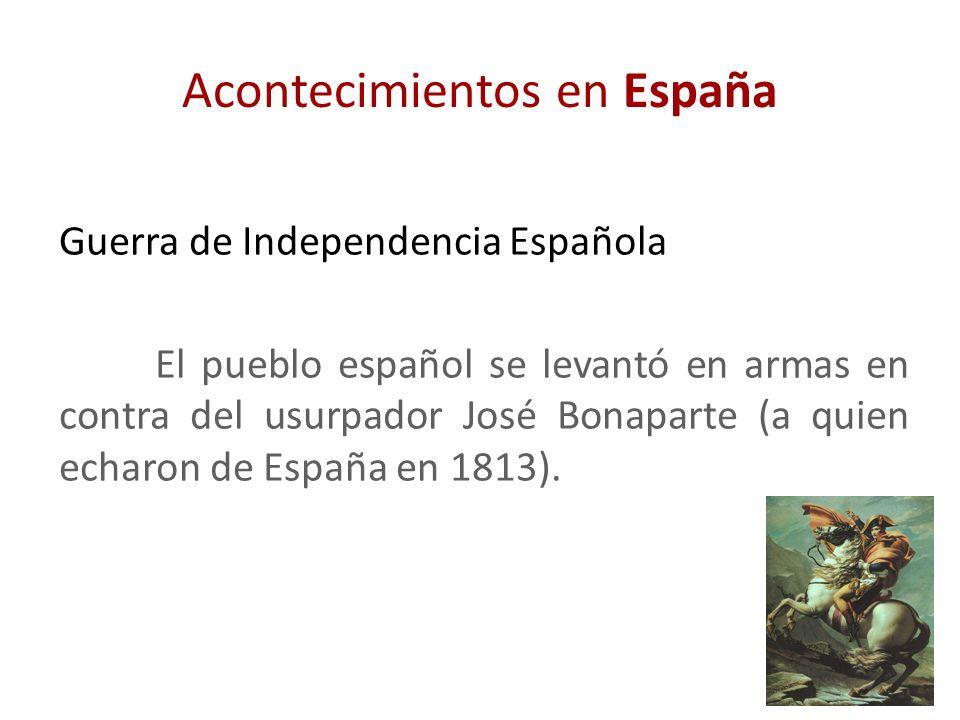 Acontecimientos en España