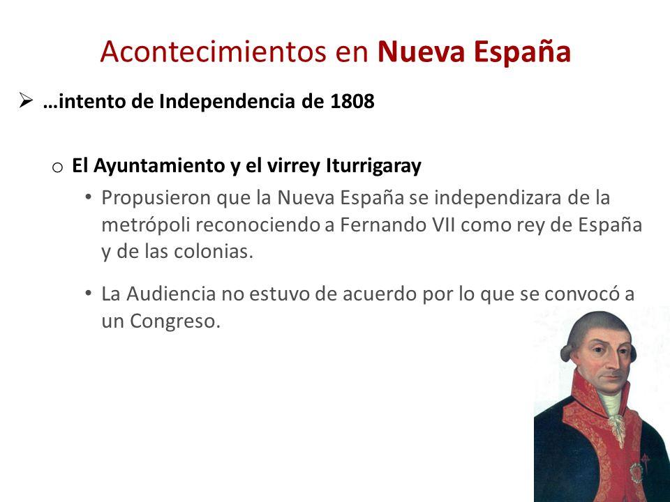 Acontecimientos en Nueva España