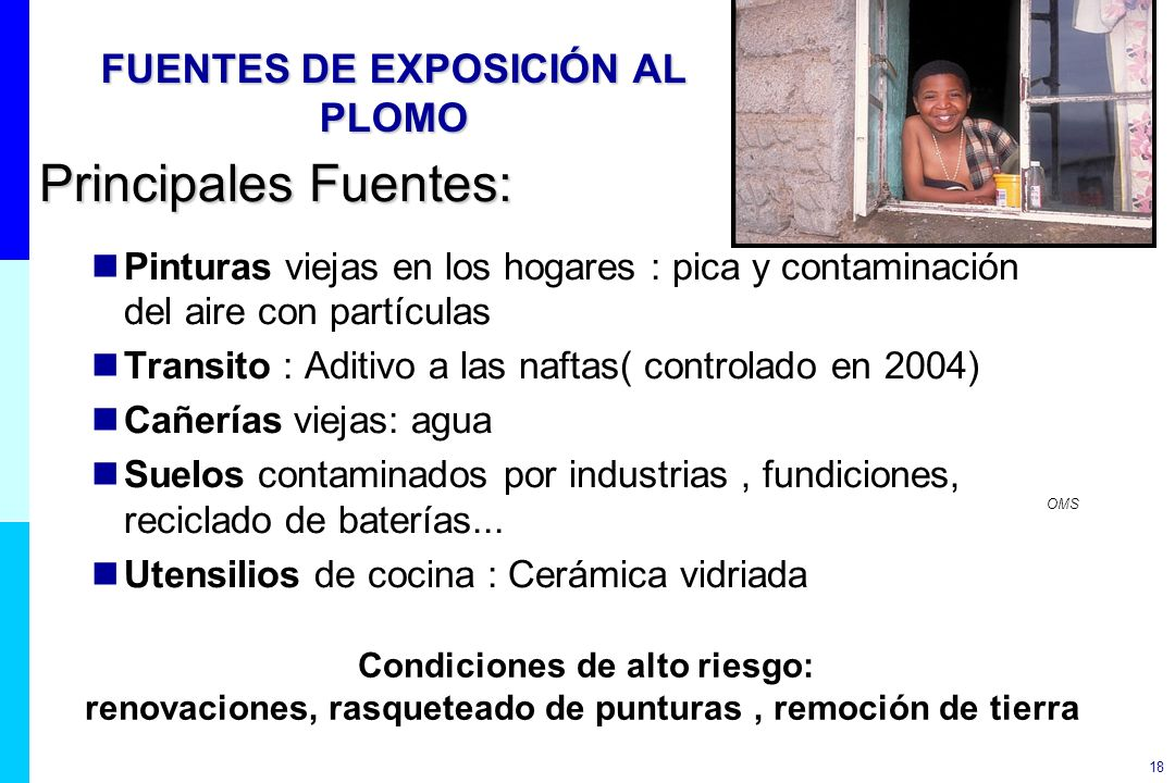 FUENTES DE EXPOSICIÓN AL PLOMO