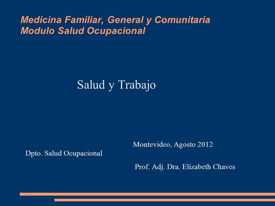 Medicina Familiar, General y Comunitaria Modulo Salud Ocupacional