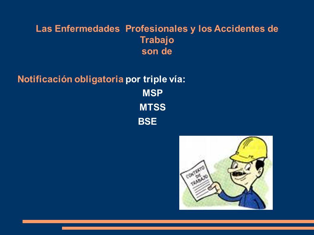 Las Enfermedades Profesionales y los Accidentes de Trabajo