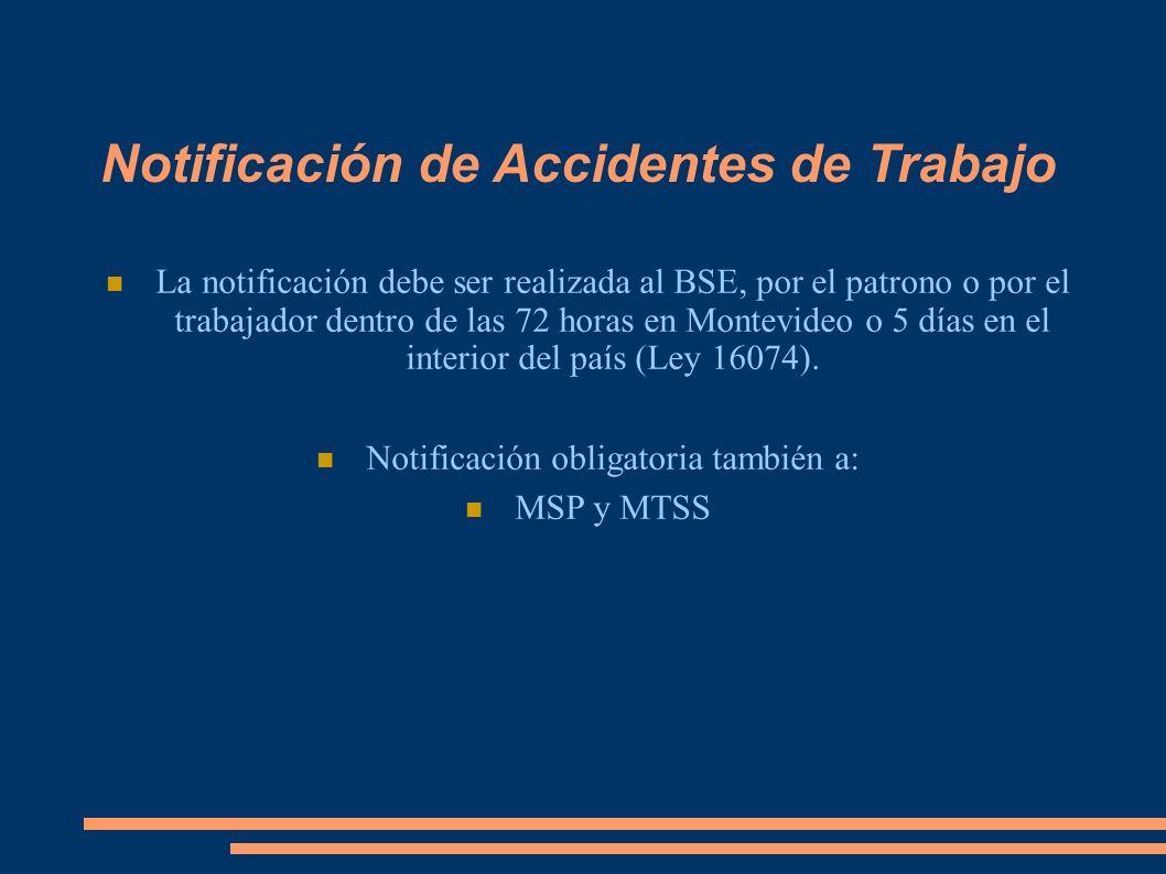 Notificación obligatoria también a:
