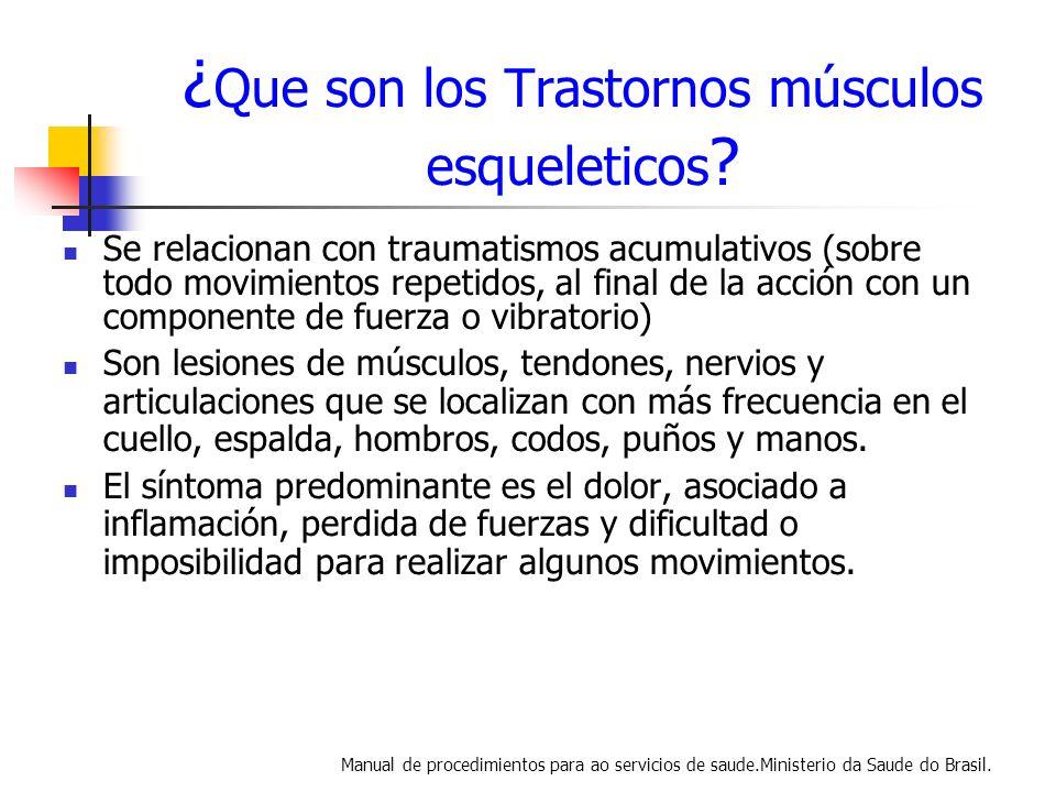 ¿Que son los Trastornos músculos esqueleticos