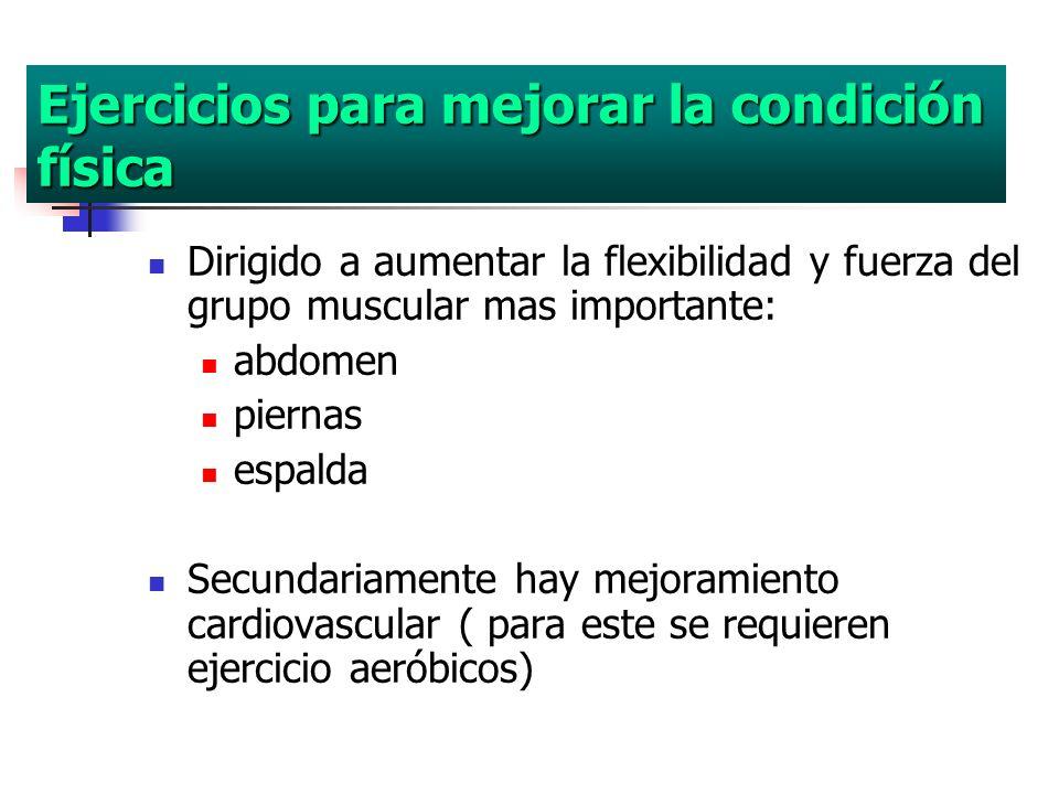Ejercicios para mejorar la condición física