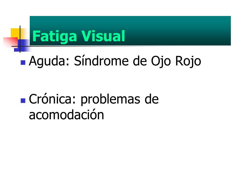 Fatiga Visual Aguda: Síndrome de Ojo Rojo